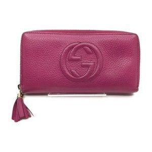 Authentic Gucci GG Leather Zippy Wallet